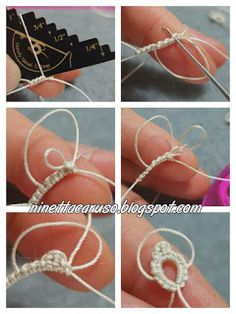 Very easy chat: a wide choice - Tatting Ideen 2019 Tatting Earrings, Tatting Jewelry, Tatting Lace, Needle Tatting Patterns, Crochet Patterns, Tatting Tutorial, Tutorial Crochet, Crochet Christmas Decorations, Hairpin Lace