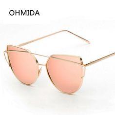 85728814b53 2017 Cat Eye Women Sunglasses Designer Metal Frame Polarized Fashion glasses  women s gafas de sol Good