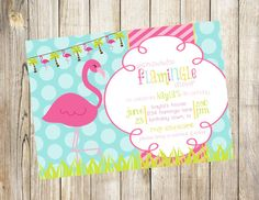 Colorful Flamingo Birthday Party Invitation by EmmyJosParties, $12.00