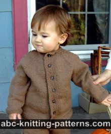 ABC Knitting Patterns - Child's Top-Down Seamless Cardigan with Set-In Sleeves.