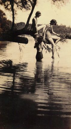 Swimming in a lake (1930's?)