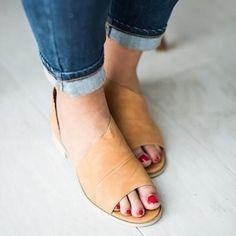 wholesale dealer 9aae5 4c128 PU Sandals Casual Comfort Peep Top Shoes