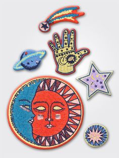 I've been on a denim embellishing spree, so you can imagine how thrilled I was to see that Mother recently launched a collection of colorful iron on patches that include all the letters of the alphabet, mystical symbols and retro motifs. Perfect stocking stuffers, am I right? I'm literally running