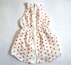 Nani Iro Sleeveless Shirtdress White with Red Polka Dots by Harriet & Daughters. Little Girl Fashion, My Little Girl, My Baby Girl, Fashion Moda, Look Fashion, Kids Fashion, Kids Outfits, Cute Outfits, Little Fashionista