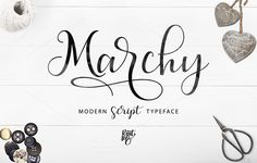 Marchy Script by pointlab on @creativemarket. Price $12 #scriptfonts #handwrittenfonts #calligraphicfonts