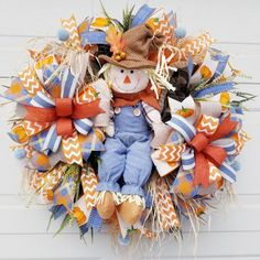 Fall Deco Mesh, 4th Of July Wreath, Wreaths, Home Decor, Ornaments, Decoration Home, Door Wreaths, Room Decor, Deco Mesh Wreaths