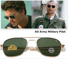 Fashion Army MILITARY Men Pilot Sunglasses Glass Lens BcRwaXLy