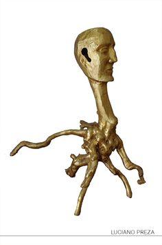 octopus raiz de sabino bañado en oro