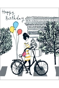 hbd lady and her bike