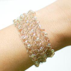 Beaded Wire Crochet Bracelet