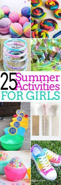 Summer Activities for girls free printables crafts & games for tweens, teens, kids of all ages summer fun and entertainment Crafts For Girls, Diy For Kids, Kids Crafts, Diy And Crafts, Arts And Crafts, Baby Crafts, Tween Games, Summer Activities For Kids, Fun Activities