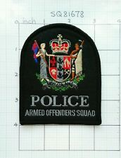 Police New Zealand AOS armed offender squad SWAT patch. New