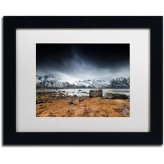 Trademark Fine Art Back to Earth Canvas Art by Philippe Sainte-Laudy, White Matte, Black Frame, Size: 16 x 20, Brown
