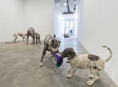 Will Kurtz's Paper Mache Gallery Dogs   Beautiful/Decay Artist & Design