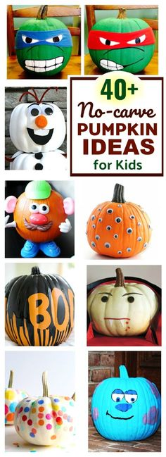 Tons of pumpkin ideas for kids- these are AWESOME!!!!