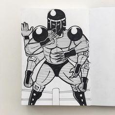 今日のウォーズマンは 「アシュウォマン」 このウォーズマン強そうに見えないところが少し残念。 改良パロスペシャルは 見てみたいけど。  #kinnikuman #warsman #ussr #yudetamago #illustration #muscle #pen #sketchbook #art #manga #japanese #Japan #manga #comic #tokyo #blackandwhite #6pack #キン肉マン #今日のウォーズマン #ゆでたまご先生 #イラスト #漫画 #落書き #ウォーズマン #イラスト #手描き #ペン #白黒 #スケッチブック #アシュラマン #阿修羅