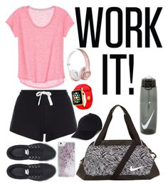 """""""Let's Hit the Gym!"""" by jamslzr on Polyvore featuring NIKE, Skinnydip, women's clothing, women, female, woman, misses and juniors"""