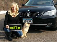 """""""My BMW is PDBYVI, how about yours??? ;)"""" - Lindsey Glasow"""