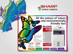 Sharp Colour Copiers Brochures Brochures, Multifunctional, Printers, All The Colors, Packaging, Colours, Pretty, Products, Wrapping