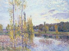 The Lake At Chevreuil Painting by Alfred Sisley