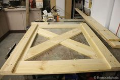 DIY Dutch Barn Door - Add some glass in the top; would used instead of sliding doors. Diy Sliding Barn Door, Diy Barn Door, Sliding Doors, Diy Playhouse, Shed Doors, Diy Shed, Building A Shed, Interior Barn Doors, Exterior Doors