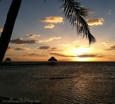 A sunrise in Ambergris Caye, Belize Central America, South America, Ambergris Caye, Running Away, Belize, Sunrise, Thailand, Beautiful Places, City