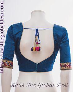 readymade saree blouse online USA – Raas The Global Desi New Saree Blouse Designs, Blouse Designs High Neck, Simple Blouse Designs, Stylish Blouse Design, Bridal Blouse Designs, Choli Designs, Sari Blouse, Designer Blouse Patterns, Bridal Dresses