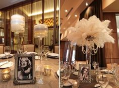love the idea of having Hollywood starlets as table numbers!
