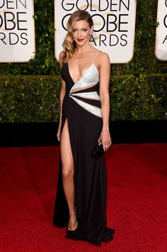 Katie Cassidy in Mikael D. at the Golden Globes 2015 | #redcarpet #GoldenGlobes #redcarpetfashion