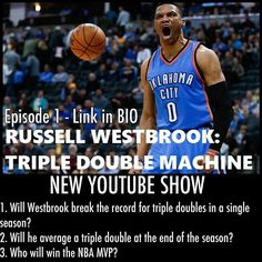 Russell Westbrook: Triple Double Machine. Watch the video by clicking on the link! NBA. MVP. Basketball. Oklahoma City Thunder. Thunder Up. Thunder Nation. Lets Go Thunder. Warriors. Kevin Durant. Steph Curry. Los Angeles Clippers. Chris Paul. LeBron James. James Harden. Rockets. Ball So Hard. Ball Is Life. Bryant and Lesar. The Bryant Sports Show. Bryant and Lesar. The Bryant Wrestling Show.