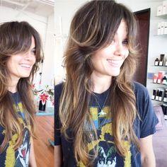 rock and roll hair, long shag, bangs no bangs, fashion, cool, long hair, long layers