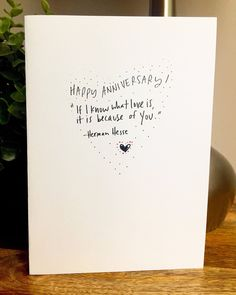 I know what love is, One Year Anniversary Card for her, Paper Anniversary, anniversary Card for boyfriend 365 days, wedding anniversary - Modern 1 Year Anniversary Gifts, Paper Anniversary, Boyfriend Anniversary Gifts, Diy Gifts For Boyfriend, Birthday Gifts For Boyfriend, 1st Anniversary Quotes, Boyfriend Card, Anniversary Cards For Husband, Boyfriend Ideas