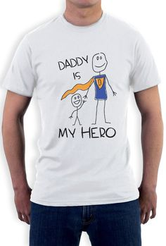Diy Father's Day Shirts, Dad To Be Shirts, Fabric Paint Shirt, T Shirt Painting, Diy Father's Day Crafts, Fathers Day Crafts, Diy Gifts For Dad, Funny Gifts For Dad, Daddy Day