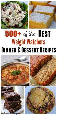 500+ Weight Watchers Recipes for Dinner & Dessert