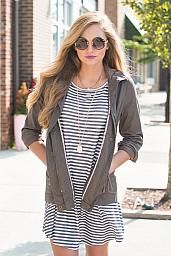 Olivia Army Jacket : Swoon Boutique