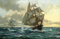 The Escaping Smuggler (Montague Dawson)