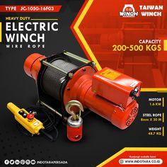 Electric Winch Power Capacity 2000kg #indotara #indotarapersada #ptindotarapersada #ptindotara #taiwanwinch #winchelektrik #hoist #electrichoist #wireropehoist #winchsafety #heavyduty #heavydutyequipment #alatindustri #manufaktur #industri #alatberatindonesia #alatberat #alatberatjakarta #wirerope #jualwinchjakarta #jualwinchbandung #jualwinchsurabaya #jualwinchmedan #jualwinchsemarang Electric Winch, Taiwan, Steel, Steel Grades, Iron