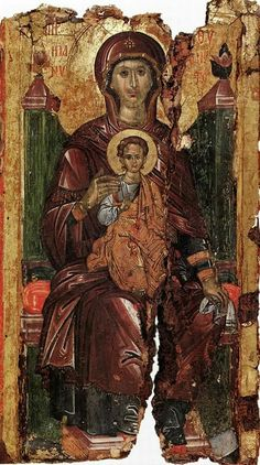 Early Christian, Christian Art, Religious Icons, Religious Art, Queen Of Heaven, Byzantine Art, Orthodox Christianity, Blessed Virgin Mary, Orthodox Icons