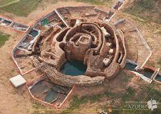 Motilla del AZUER Vista aérea del yacimiento arqueológico