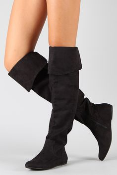 Qupid Proud-09 Suede Cuff Slouchy Thigh High Boot...and these!!!