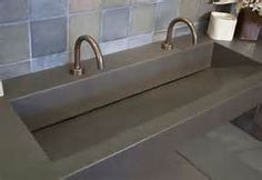 Trough sinks out of concrete or composite  commercial bathroom images - Bing images