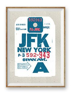 Luggage tag screen print New York