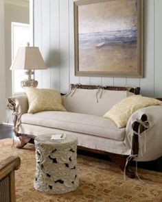 What About Doing Some Arem Covers Like This Duncan Phyfe Sofa With Linen Slip Lilo Rivera Upholstery Ideas