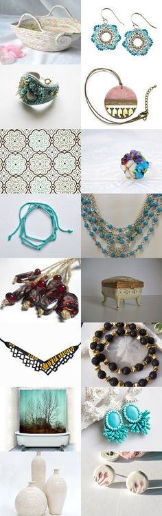 Lovely 06 by FashionForWomen on Etsy--#etsy #treasury #pink #moses #basket #turquoise #earrings #aqua #necklace #summer #fun Pinned with TreasuryPin.com