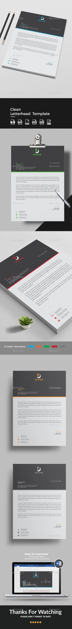 Letterhead Stationery, Templates and Design templates - personal letterhead template