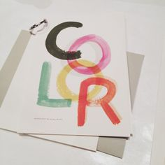 """""""What's Your (Colour) Story?"""" Workshop by Anna Bond of Rifle Paper Co. at Design Ranch 2013"""