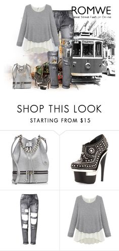 """""""Untitled #570"""" by sanetdelport ❤ liked on Polyvore featuring MANU Atelier, Versace, women's clothing, women, female, woman, misses and juniors"""