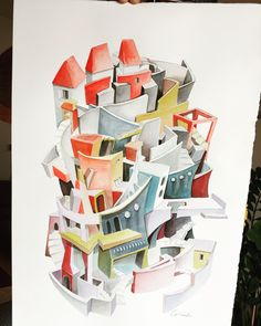 Invisible city Invisible Cities, Copic, Architecture, Painting, Inspiration, Ideas, Ghosts, Cities, Illustrations