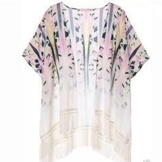Victoria's Secret Swimsuit Cover up/ Fringe Kimono $79