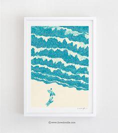 Bis zum Meer  Kunstdruck von ilovedoodle auf Etsy, $30.00